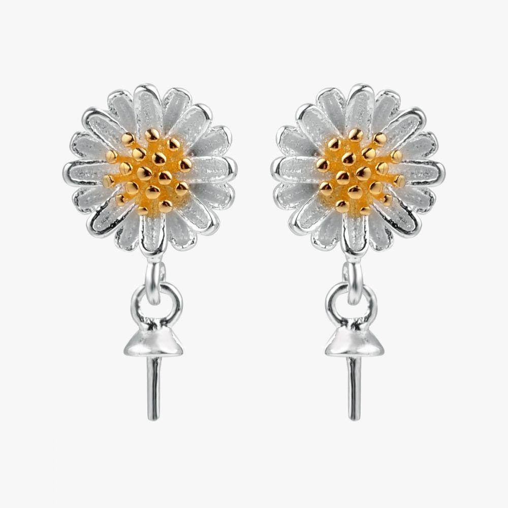 925 Silver Dangle Pearl Earrings