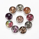 Animal Leopard Print Snap Buttons Mixed Colors 18mm for DIY Bracelet Ring Jewelry Findings