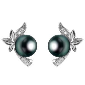 Flower Pearl Earrings Fittings Earring Stud Mountings Jewelry Kits DIY Findings
