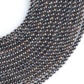 5-5.5mm AA Grade Black Akoya Saltwater Pearl Strands 78pcs/strand