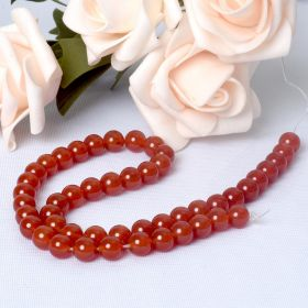 8mm Round Red Agate Loose Stone Beads Strand For Jewelry Making DIY Bracelet Necklace
