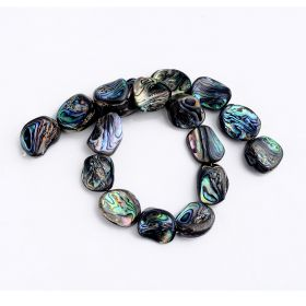 "Abalone Shell Beads Strand 15"" Jewelry Making Loose Beads Strand"