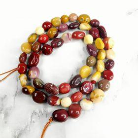Mookaite Egg Yolk Stone Loose Beads for Jewelry Making Findings DIY Bracelet 16 inch/Strand