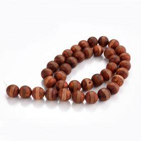 """Matte Tibetan Dzi Agate Stone Beads Striped Buddha Malas Beads for Jewelry Making 15"""" Strand"""