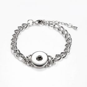 Chain Connector Style Bracelet Noosa Snap Jewelry Fits Interchangeable Snap Buttons