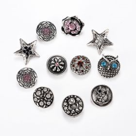 Mixed Chunky Snap Button Jewelry Charm Fancy DIY Accessories for Women