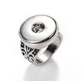Pretty Snap Button Ring Snap Jewelry Charm Chunks 21mm fits Snap Button Snap Jewelry Size 8