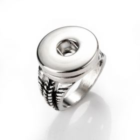 19mm Simple Fashion Snap Rings Jewelry Accessory Fit for Snap Buttons US Size 8