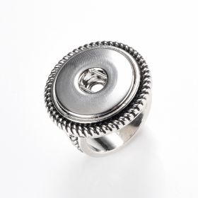 Chunky Alloy Fashion Snap Jewelry Rings 25.5mm DIY Snap Button Jewelry Accessory US Size 7.5