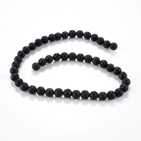 8mm Black Lava Rock Stone Beads Bulk for Diffuser Essential Oils Adult Jewelry Making Supplies Bracelets
