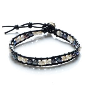 Potato Freshwater Pearls Beaded Single Wrap Bracelet Handmade Fashion Women Jewelry