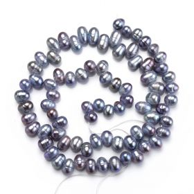 Jewelry Bulk 6-7mm Fresh Water Pearl Loose Beads Strand for Jewelry Necklace Making Multiple Color