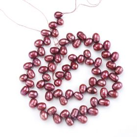 5-6mm Fresh Water Pearl Loose Beads Strand for Jewelry Making Multi-Color
