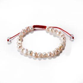 Freshwater Pearl Friendship Bracelet Handmade Braided Adjustable String Bracelet