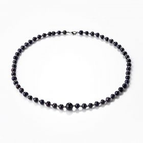 Black Freshwater Pearls Single Strand Necklace Jewelry Gifts 20 inches