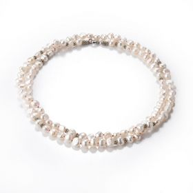 7-8mm White Nugget Pearl Long Strand Opera Necklace 32 inch