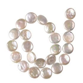 16-17mm White Coin Freshwater Pearl Beads Strand New Arrival for DIY Jewelry Making