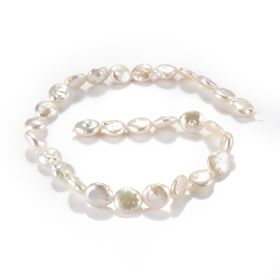 """Baroque Freshwater Pearl Coin Bead Strand 15.5"""" for DIY Jewelry Making Accessories"""