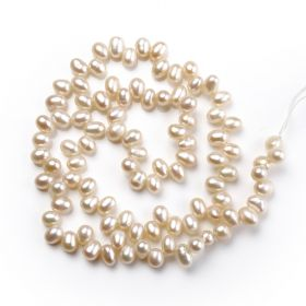Small Beads 4-5mm Rice Freshwater Pearl DIY Jewelry Loose Beads Strand
