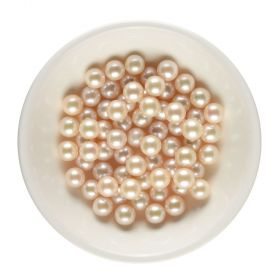9-9.5mm Round Genuine Freshwater Cultured Loose Pearls Natural Color Undrilled