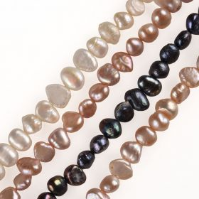 4-5mm Baroque Nugget Cultured Real Freshwater Pearl Strands 15 INCH