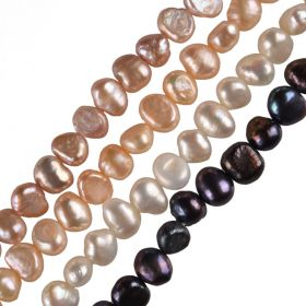 6-7mm Multi Colored Baroque Cultured Freshwater Pearls Strand 15 inch 68 pieces