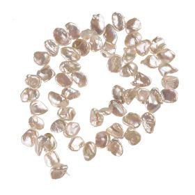 10mm White Reborn Keshi Natural Cultured Pearl Strands Cornflake Pearls Wholesale