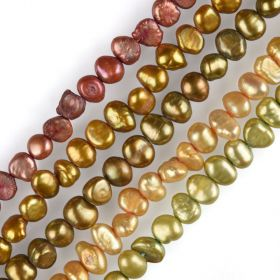4-5mm Dyed Multi-Colors Nugget Freshwater Pearls Strand Wholesale