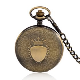 Retro Pendant Watch Necklace Chain Bronze Alloy Pocket Watches Quartz Movement