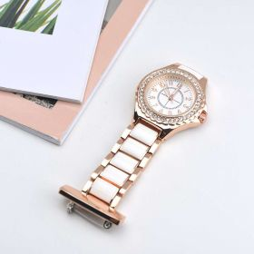 Conveinent Rhinestone Nurse Doctor Brooch Quartz Watch