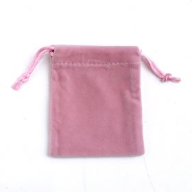 Pink Velvet Pouches Jewelry Packaging Display Drawstring Packing Gift Bags & Pouches 100 Pcs/lot Size options