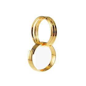 Gold Plated Brass Triple Loops Jump Ring Two Connected Together for DIY Earrings Jewelry Making Findings