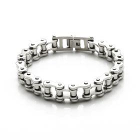Men's Motorcycle Chain Stainless Steel Hip-hop Biker Bracelet