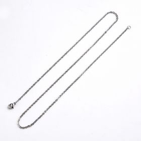2mm 316L Stainless Steel Chain Link Necklace 17.5 / 19.5 Inch MEN198