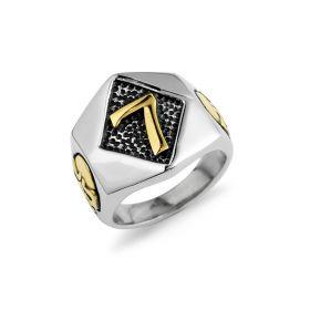 Special Design Lucky 7 Ring Stainless Steel Men's Skull Ring
