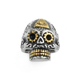 Vintage Unique Gothic Skull Design Biker Stainless Steel Men's Ring