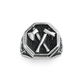 Antique Axes Design Stainless Steel Men's Punk Ring for Jewelry Accessory Gift