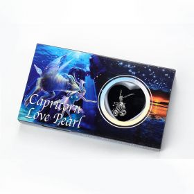 100PCS 12 Constellation Capricorn Love Wish Freshwater Pearl Pendant Necklace Kit with Chain 17""