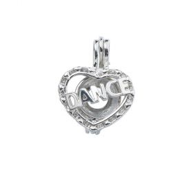 DANCE Heart Wish Pearl Cage Locket Pendant DIY Jewelry Making Fun Christmas Gifts