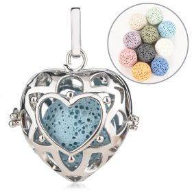 Hollow Out Heart Aromatherapy Essential Oil Diffuser Locket Pendant Charms