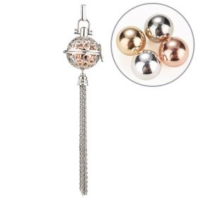 Harmony Bola Chime Balls Tassel Cage Pendant Hollow Perfume Locket Box for Women