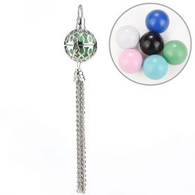 Hollow Infinity Wish Box Charm with Chain Fringe for Angel Caller Chime Prayer Ball Pendant