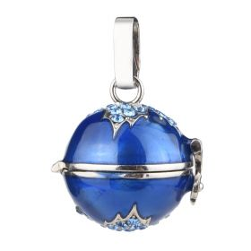 Round Ball Cage Pendant for Angel Chime Caller Mexican Jewelry Prayer Ball Lava Stone