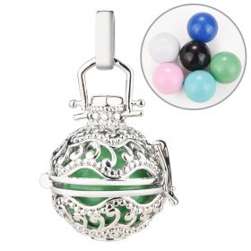 Mexican Angel Caller Pregnancy Chime Bell Ball Wish Box Pendant Copper Cage Locket for DIY