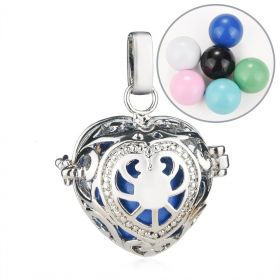 Heart Design Mexico Chime Music Ball Angel Caller Cage Pendant for Pregnant Women