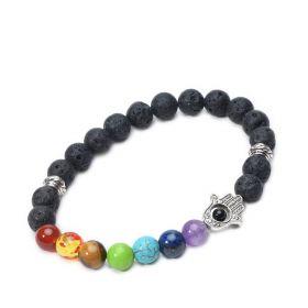 Lava Rock 7 Chakra Stone Essential Oil Diffuser Bracelet