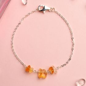 Best Gift 925 Silver Sterling Bracelet Jewelry with Colorful Nugget Gemstone Bangle