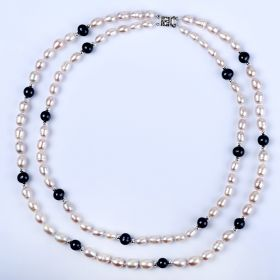 Stylish Freshwater Pearl Double Strand Necklace For Women Gift Jewelry