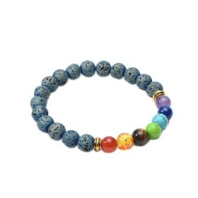 7 Chakra Lava Rock Beads Essential Oil Diffuser Bracelet