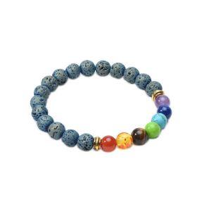 7 Chakra Lava Rock Beads Essential Oil Diffuser Bracelet